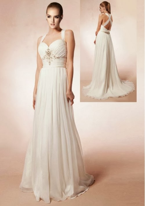 Wedding blog beautiful styles of halter wedding dresses for Wedding dress neckline styles