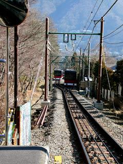 Funicular de la Tetsudosen que va desde Gora hasta Sounzan