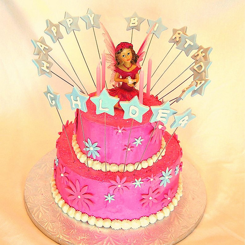 Cake Image With Girl : Birthday Cake: Fairy Birthday Cakes