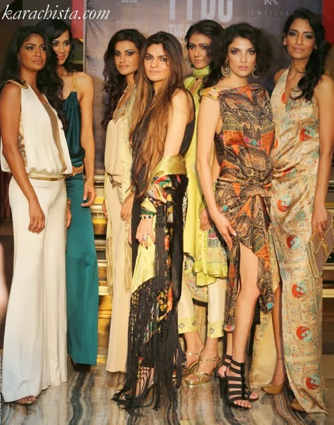 Shehla Chatoor exhibits at the Pakistan Fashion Design Council store in New Delhi, India