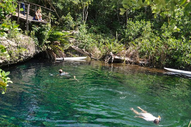RIVIERA MAYA CON NIÑOS: Nadar en cenotes