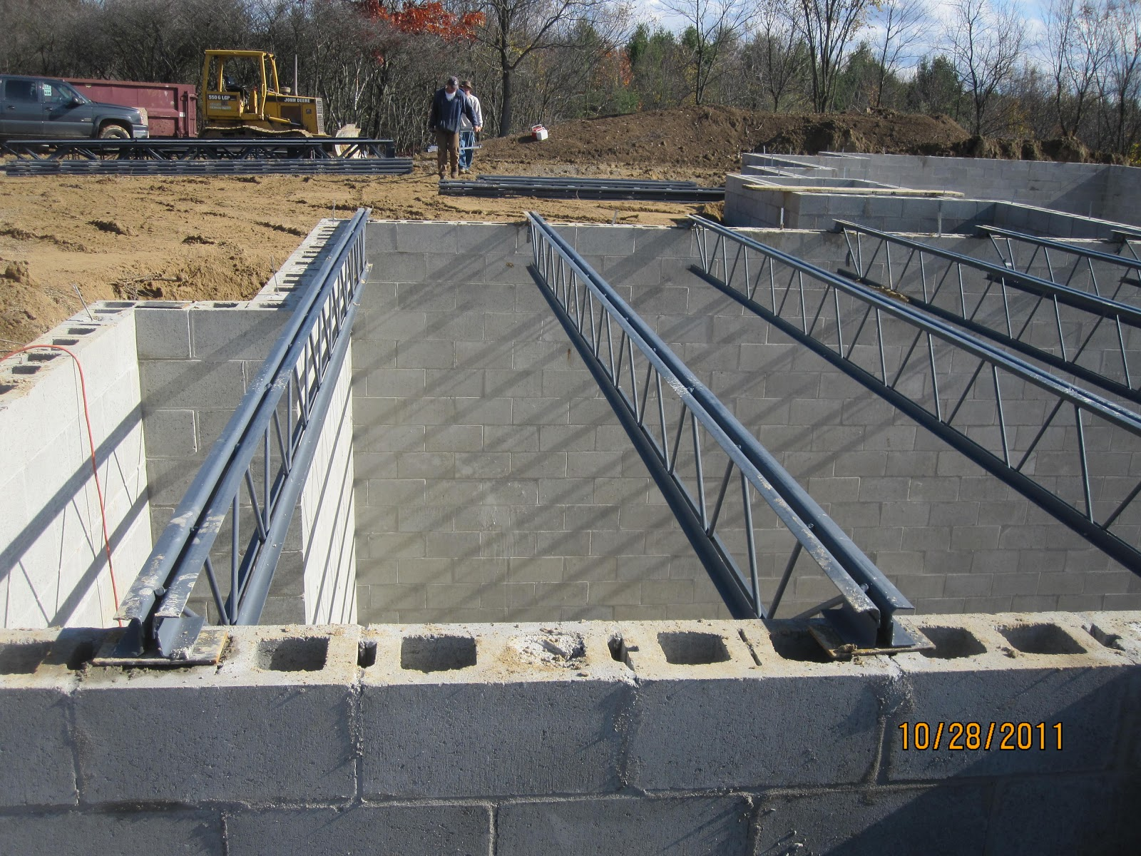 Energy efficient building network open web joists for for Open web floor trusses