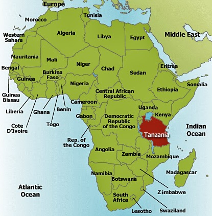 THE JOURNEY ITSELF IS MY HOME Where Is Tanzania - Where is tanzania located