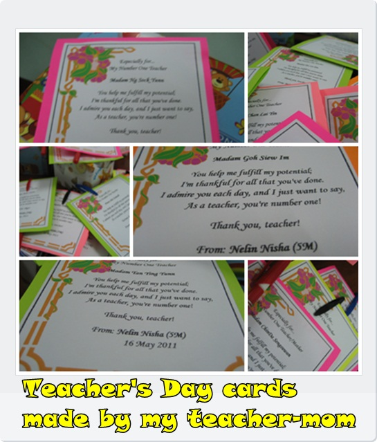 cards for teachers day. Those little cards would be
