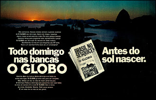 jornal O Globo década de 70, 1972; os anos 70; propaganda na década de 70; Brazil in the 70s, história anos 70; Oswaldo Hernandez;