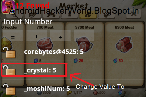 Step.2 Type Your Crystals And Hit Ok And Change Value To Any If You