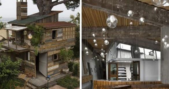 Casas construidas con madera reciclada - Casa de gatos con palets ...