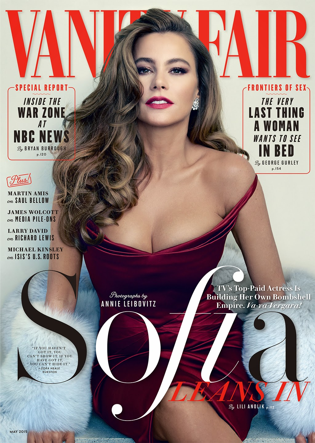 Actress, Model @ Sofia Vergara by Annie Leibovitz for Vanity Fair May 2015