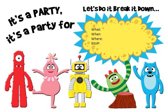 a yo gabba gabba invitation - taylormade, Birthday invitations