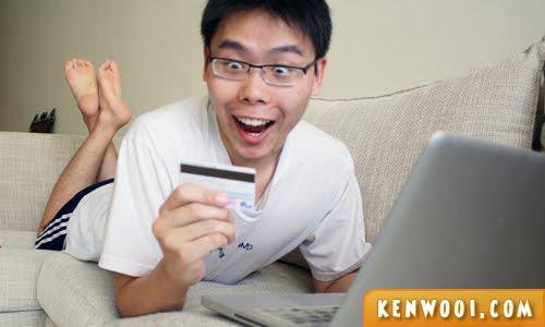 man shop online