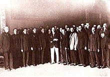 MUSSOLINI A DALMINE - 20 MARZO 1919 CON GLI OPERAI