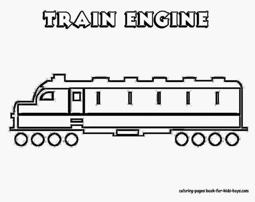 Train Coloring Sheet YESCOLORING Free Trains