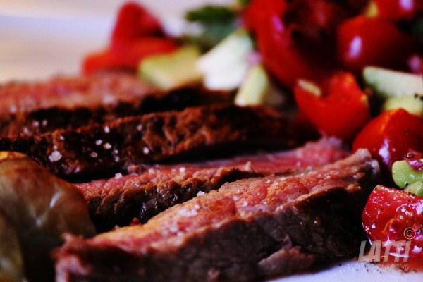 Steak met tomatensalsa