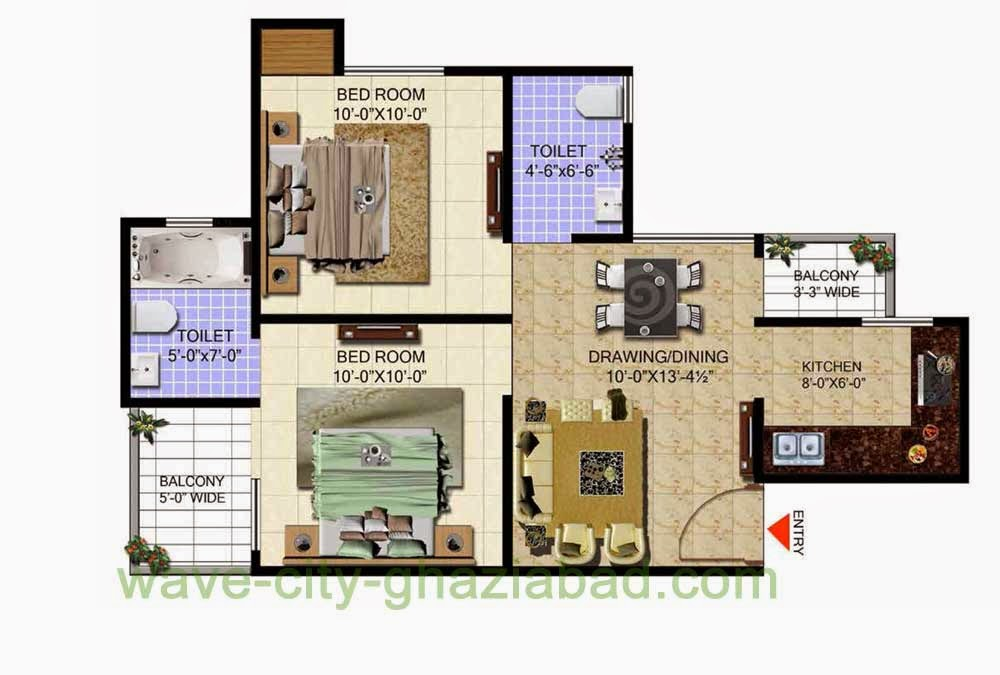 Wave City Mantra Meadows 2BHK APARTMENT / 800 SQFT
