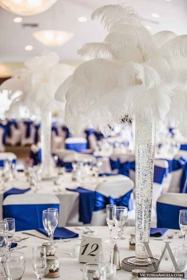 Deco mariage bleu roi et blanc id es et d 39 inspiration sur le mariage - Mariage bleu et blanc ...