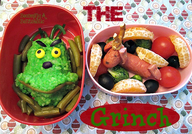 The Grinch Rice Ball