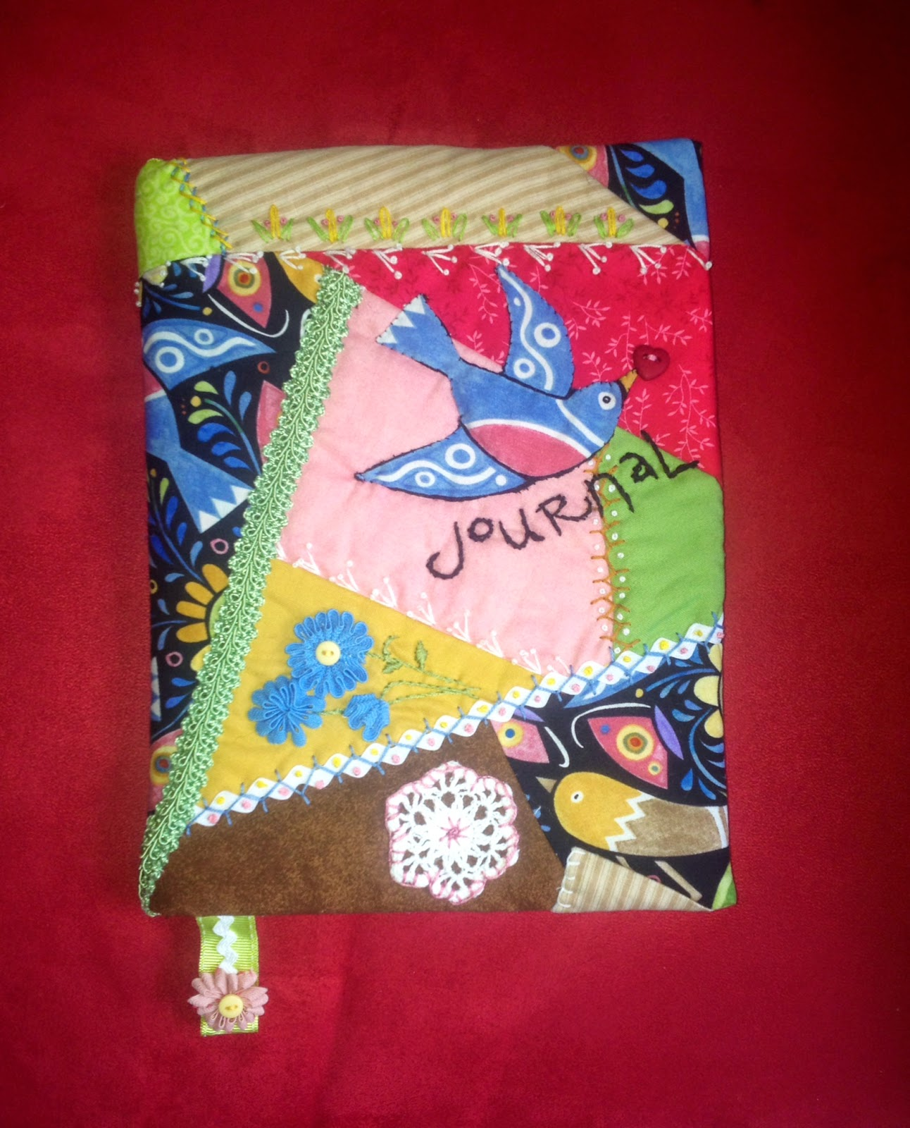 How To Make A Quilted Book Cover : Totally crazy quilt life making your own quilted book cover