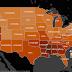 Infograficul Pornhub - care sunt cele mai cautate cuvinte in fiecare stat american