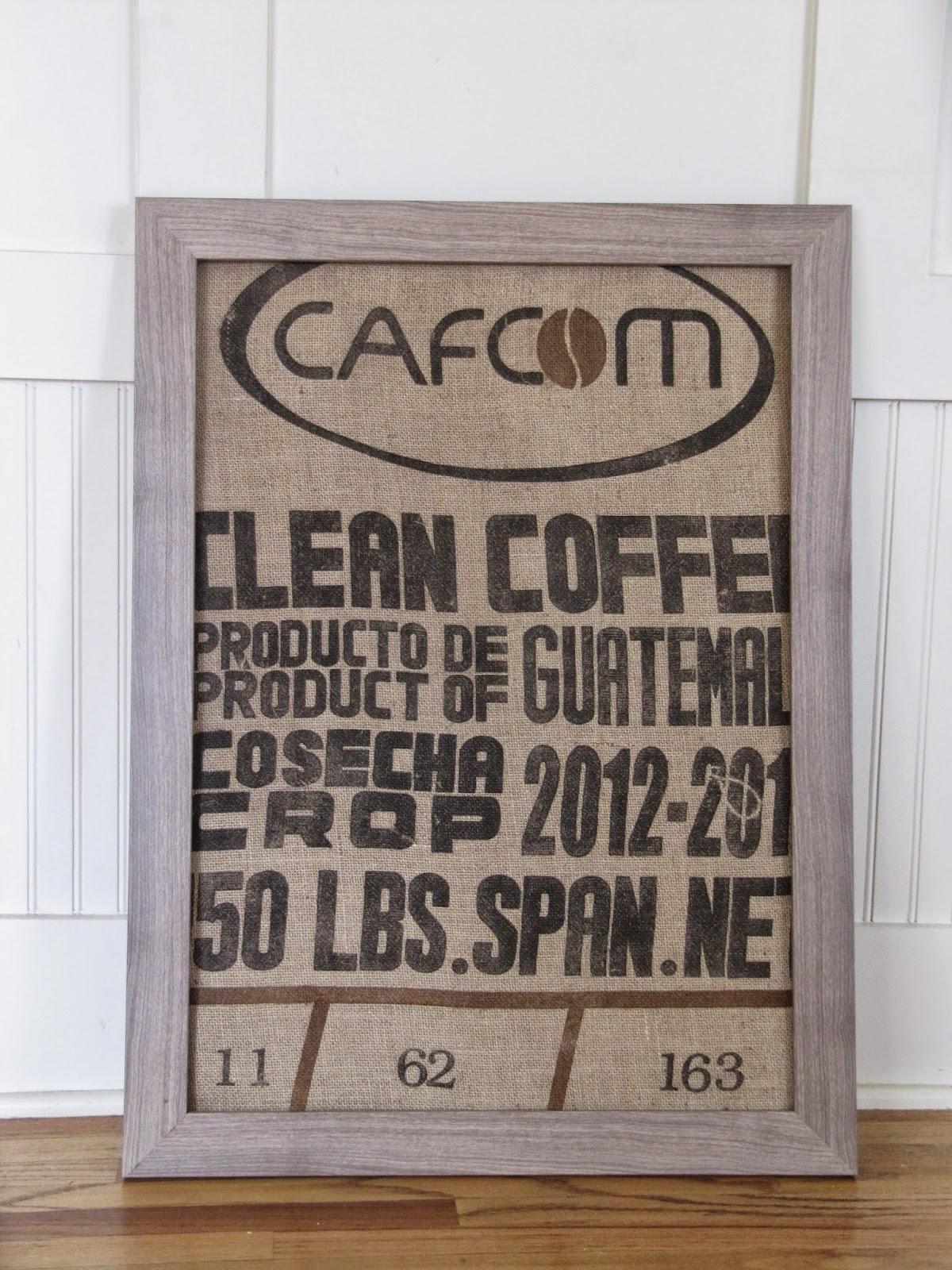 Framing A Burlap Coffee Sack