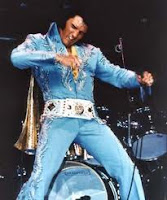 elvis, elvis wearing blue and white