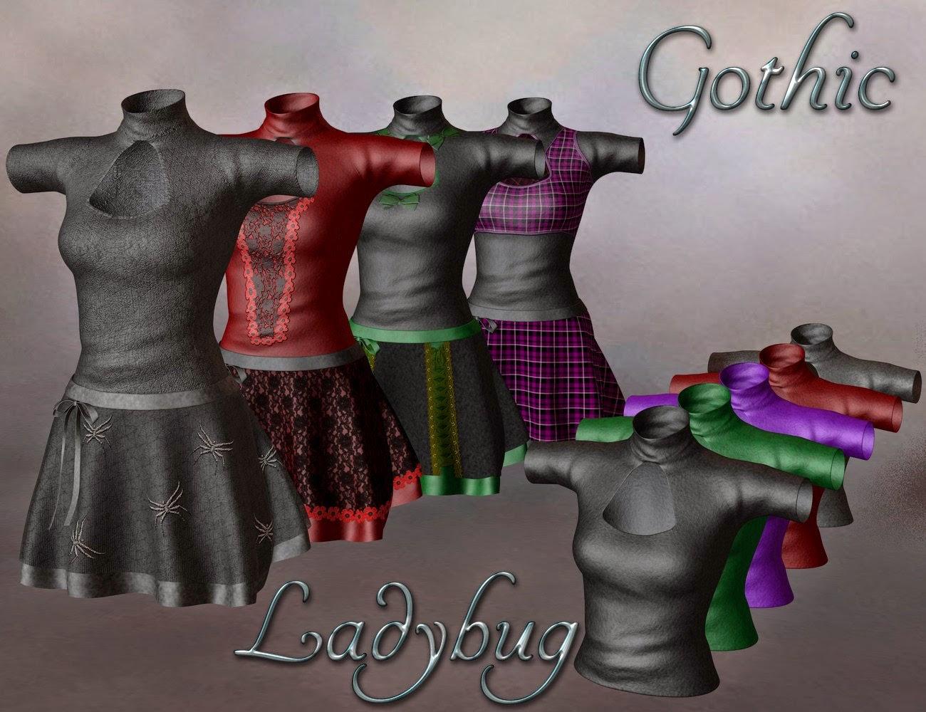 Gothiques coccinelle Textures