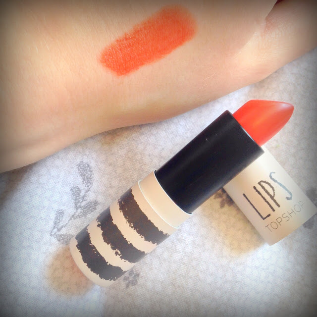 Photo of Topshop Beauty Lipstick in Infrared and swatch