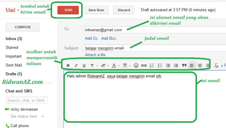 cara mengirim email dengan gmail