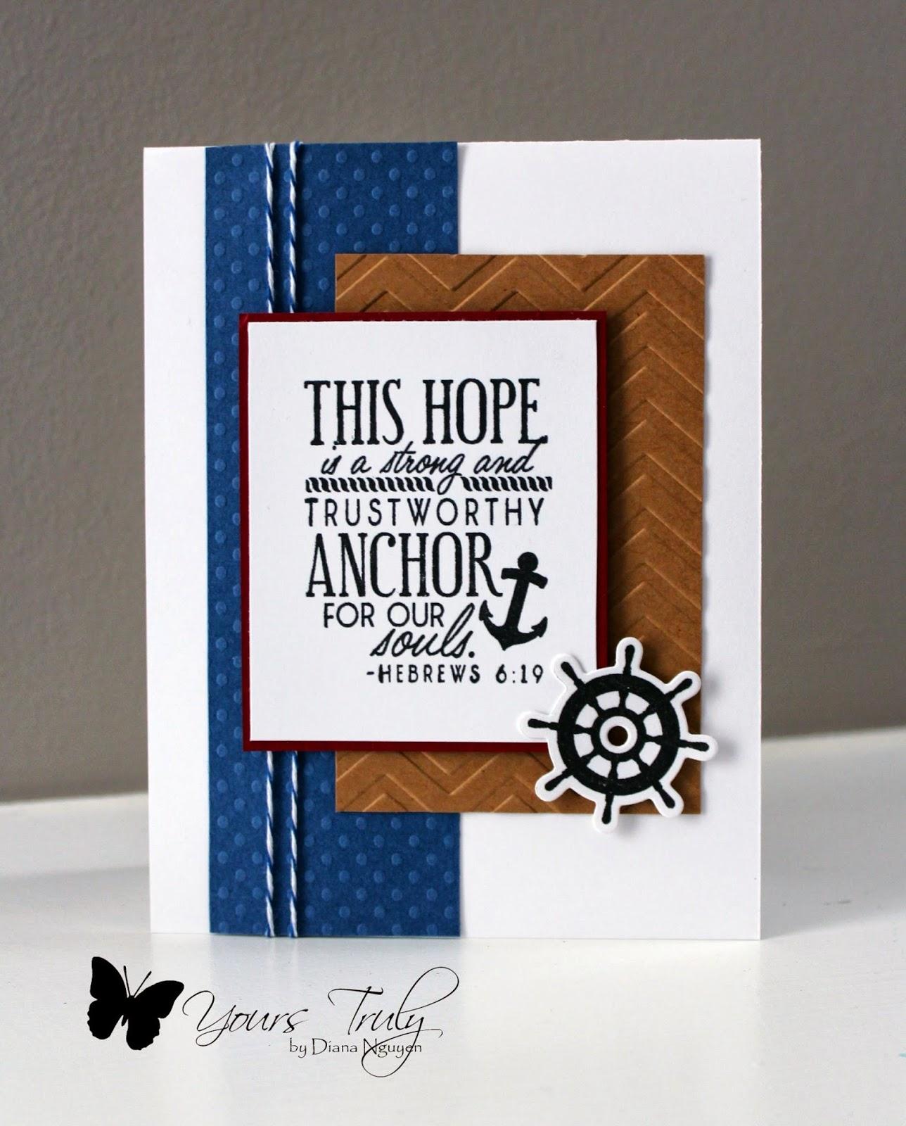 Diana Nguyen, Verve, Scripture, nautical card, masculine card