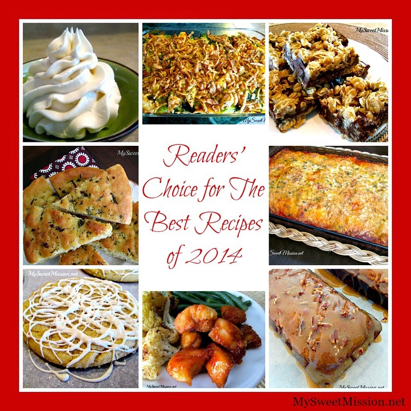 Readers' Choice for The Best Recipes of 2014 by MySweetMission.net
