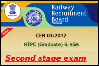 RRB CEN 03 / 2012 second stage syllabus