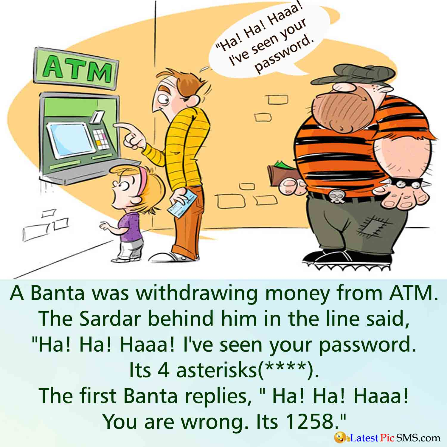 Banta bank ATM jokes