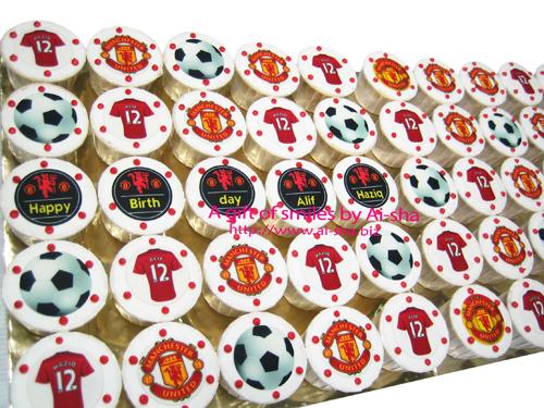 Birthday Cupcake Edible Image Manchester United Ai-sha Puchong Jaya