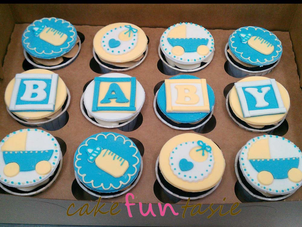 cake funtasie baby shower boy cupcakes
