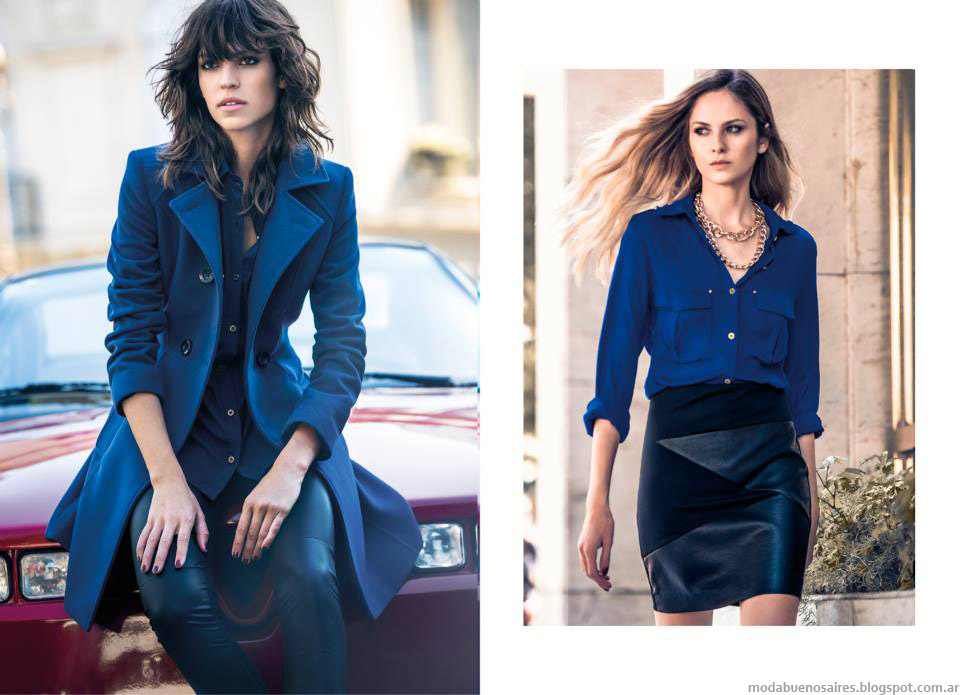 Tapados, faldas, camisas, en los looks de la colección Markova otoño invierno 2015. Moda otoño invierno 2015.