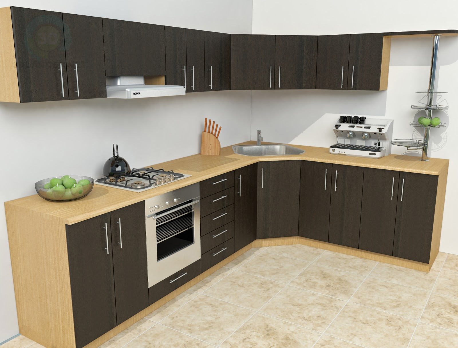 3d kitchen decorating ideas home designs for Kitchen model ideas