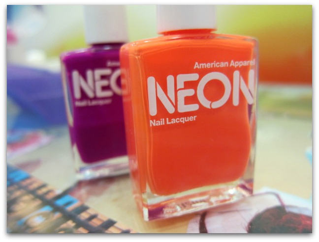 American Apparel Neon Nail Polish