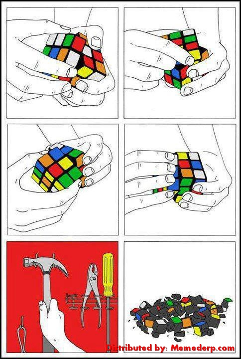 Rubik Cube Easy Solution meme