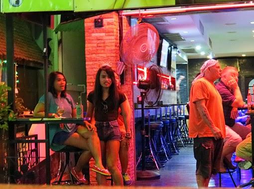 bar girls at work