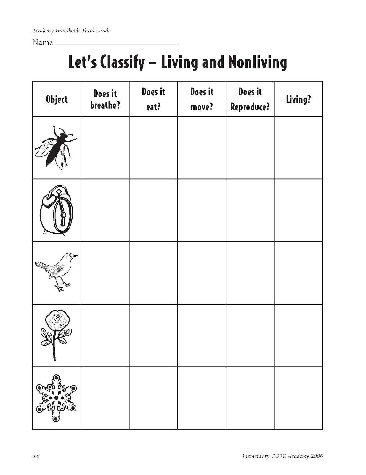 characteristics of life worksheet characteristics of life worksheet pdf