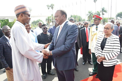 Photos: Buhari departs Kenya after three day official visit