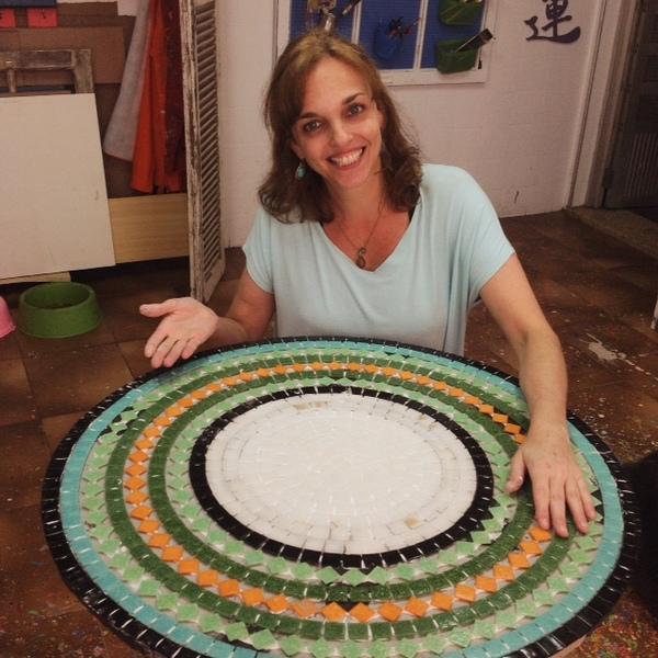 atelier wesley felicio, entrevista, vero kraemer, batendo um papo, artesã, em destaque, mosaico, pintura, artista plástica, além da rua atelier,