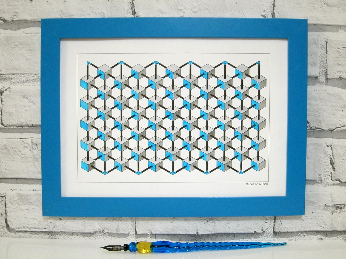 07-Framed-Drawing-Designstack-Optical-Illusions-and-Impossible-3D-Coloring-Collection-www-designstack-co