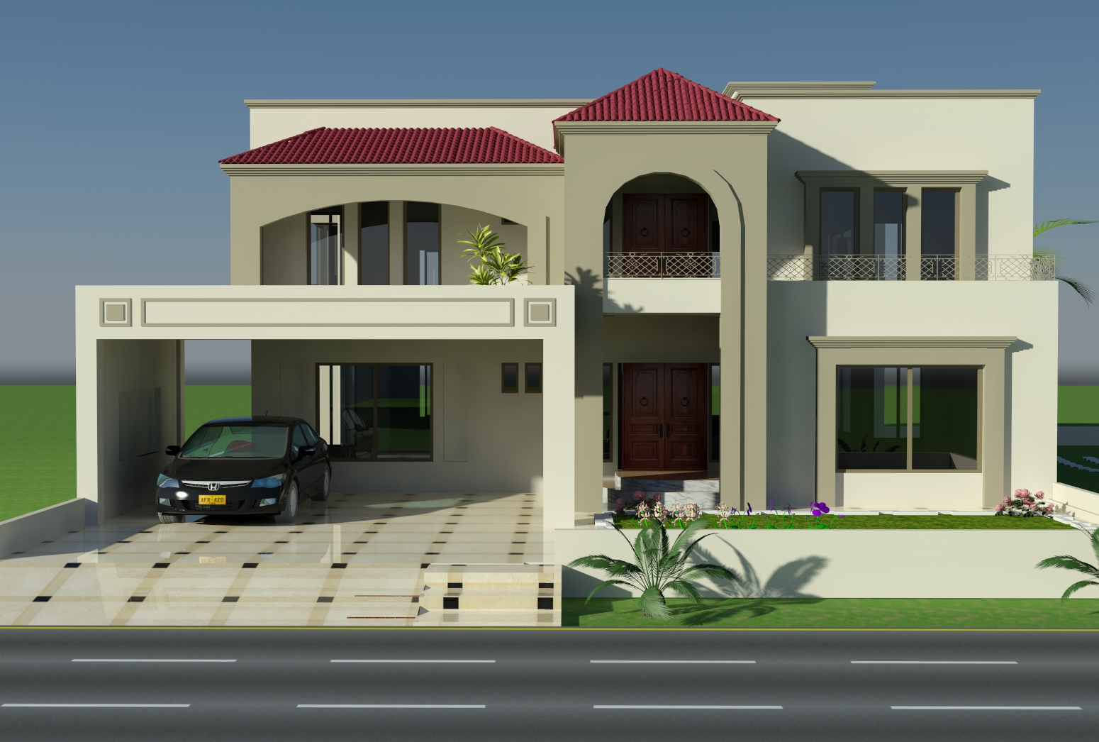 Home design plans with photos in pakistan home design for Contemporary home plans 2015