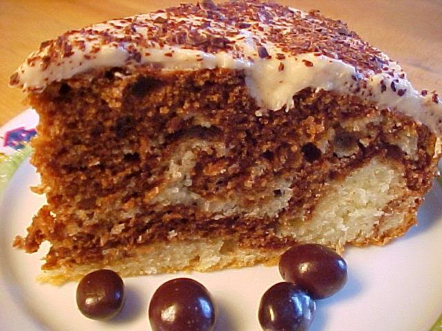 Gâteau au yogourt, au chocolat et au café