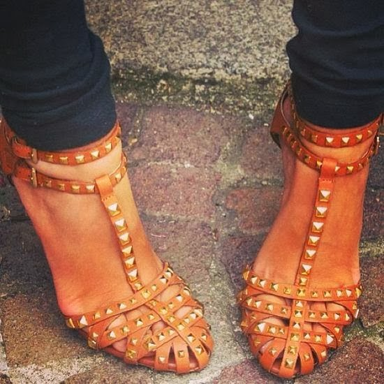 Gorgeous Studded Sandals for Street Style
