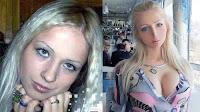 Valeria Lukyanova Barbie humana con y sin cirujia