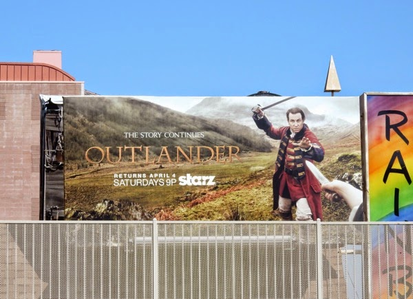 Outlander midseason 1 Jack Black Randall billboard