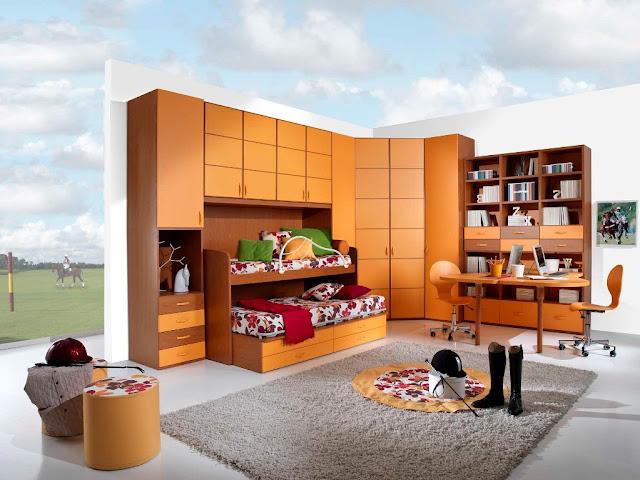 صور وتصميمات لغرف نوم أطفال مودرن 2015 modern children bed rooms
