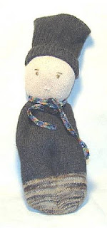sock dolls handsewn folk art recycle crafting
