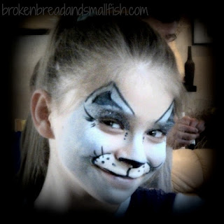 Authentic - Girl with face painted like cat. Am I - Authentic? - brokenbreadandsmallfish.com